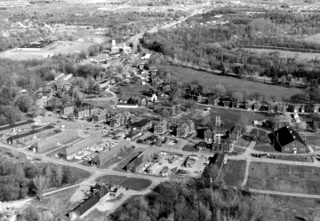 Aerial of Fort Ethan Allen