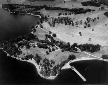 Aerial View of the Main House, Shelburne Farms