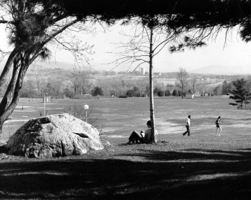 Glacial Erratic - Athletic Fields in Background