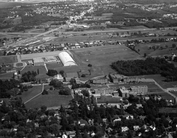 Aerial View, Redstone and Athletic Campus
