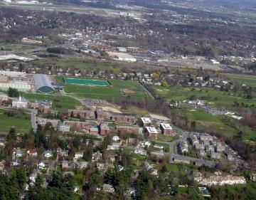 Aerial of Redstone Campus and I-89