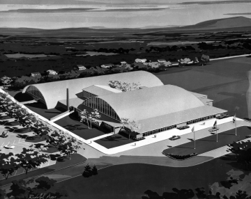 Artists Sketch of New Gym