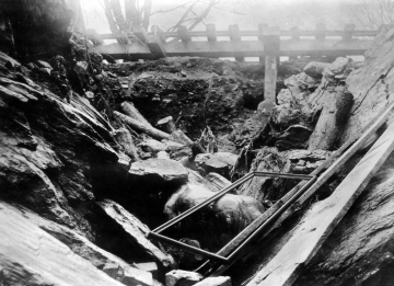 1927 Flood Damage to the White River Railroad in Gaysville