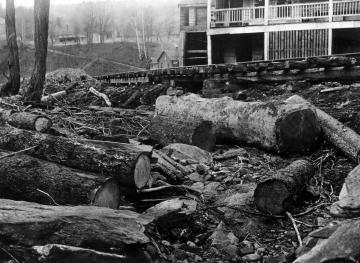 1927 Flood Damage next to White River Railroad in Gaysville