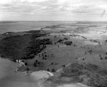 Aerial of St. Albans Bay