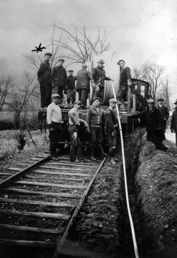 Section Crew Building the White River Railroad in Rochester