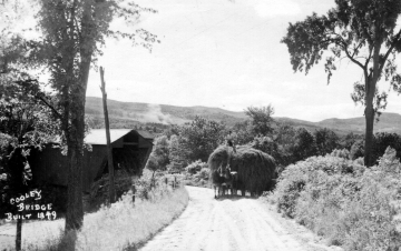 Cooley Covered Bridge and Horsedrawn Haystack