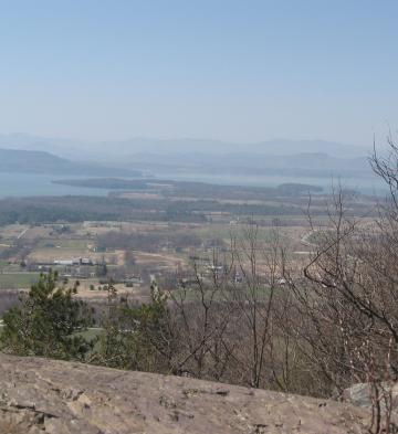 View of Farms from Mt. Philo