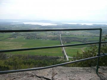 View of Farms and Lake Champlain from Mount Philo