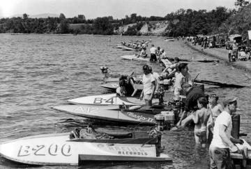 Boat Race Preparation on Lake Memphremagog