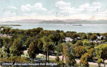 View Across Lake Champlain from Burlington
