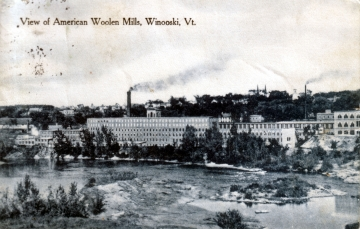 View of Woolen Mills in Winooski