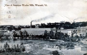 View of Woolen Mills in Winooski