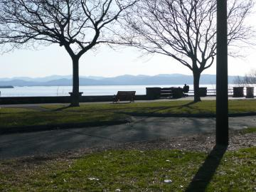 A View of Lake Champlain from Battery Park