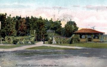 Entrance to Ethan Allen Park