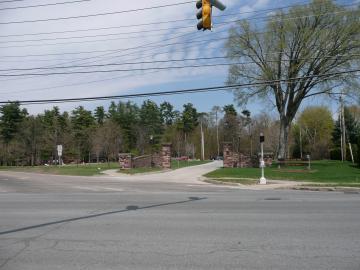 The Entrance to Ethan Allen Park