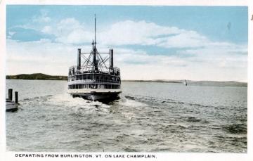 Boat Departing from Burlington