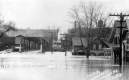 1927 Flood on White River Bridge, White River Junction