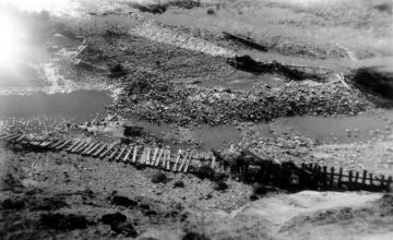 1927 Flood Damaged Fence