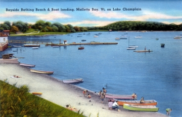 Bayside Bathing Beach & Boat Landing in Malletts Bay