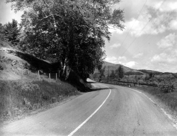 Rural road before improvements