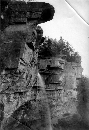 Limestone Bedding and Waterfall