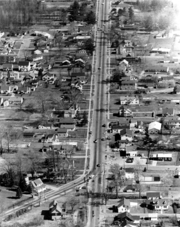 Aerial of North and Plattsburg Avenues