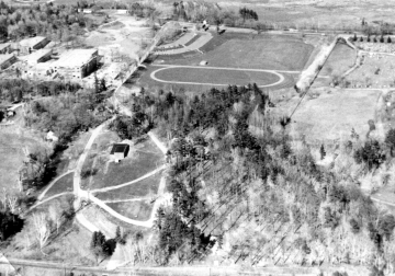 Aerial of High School and North Beach Campground