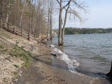 Leddy Beach during Spring Thaw