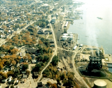 Aerial View of Burlington Harbor