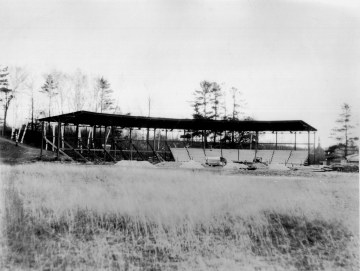 Construction of South Park Grandstand