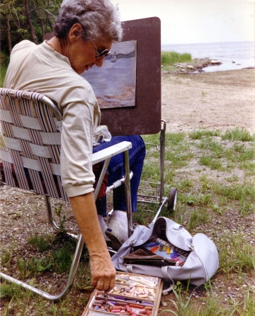 Artist on Lake Champlain