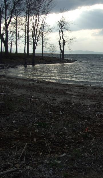 View of Lake Champlain from Blanchard Beach