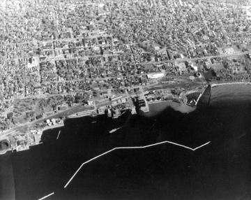 Aerial View of Burlington and Lake