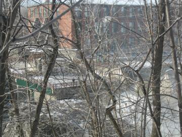 Winooski River and Winooski from Burlington Today