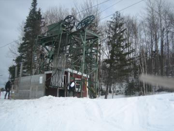 Burke Mountain's Poma lift 2008