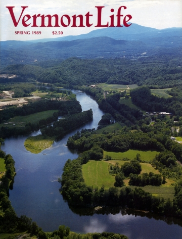 Aerial View of Connecticut River near White River Junction