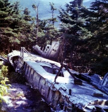 B-24 Bomber wreckage