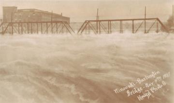 Winooski River Rising Over Bridge