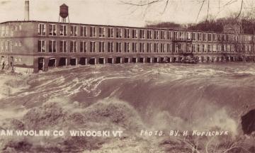 American Woolen Co Damaged by Flood