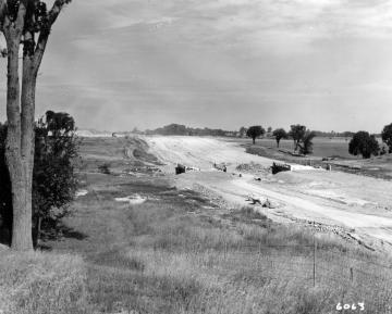 Interstate -89 construction through pasture