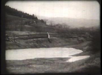 1927 Flood Movie Screenshot: St. Johnsbury and Lake Champlain Railroad 2