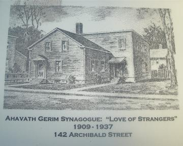 142 Archibald Street: Ahavath Gerim Synagogue