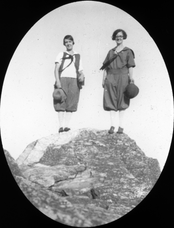 Two Young Girls on the Summit of Camel's Hump