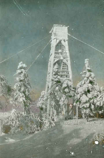 Belvidere Mountain Tower in Winter