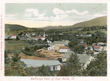 Bird's-Eye View Postcard of East Burke