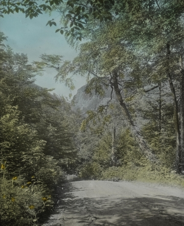 Smuggler's Notch from road to Barnes' Camp