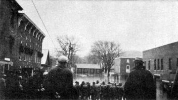 Crowd on Stowe Street