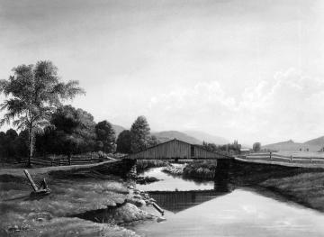 Bridge Reflected on Water