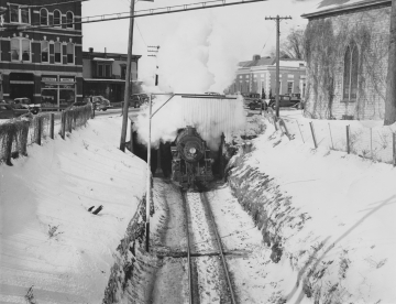 Train Coming into the Center of Middlebury